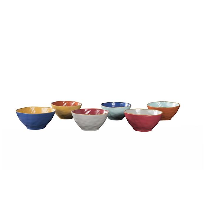 Insalatiera Mediterraneo in ceramica colorata cm 17,5