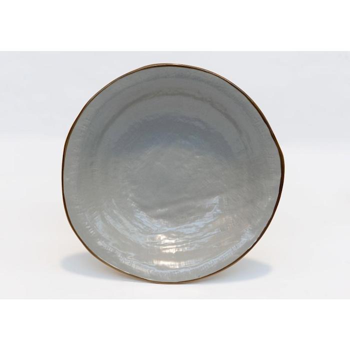 Piatto fondo Mediterraneo in ceramica fango cm 24