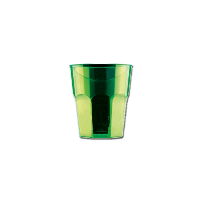 Bicchiere Disco Cocktail Gold Plast in polistirolo verde cl 27