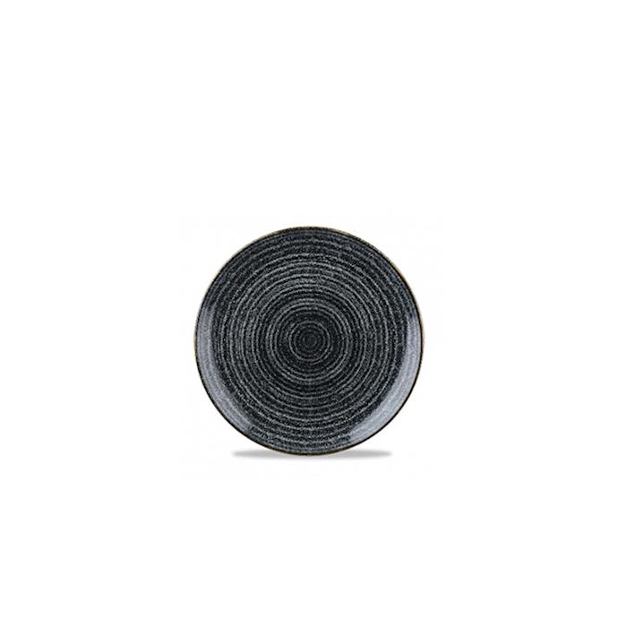 Piatto piano Studio Prints Homespun Churchill in ceramica vetrificata nero cm 21,7