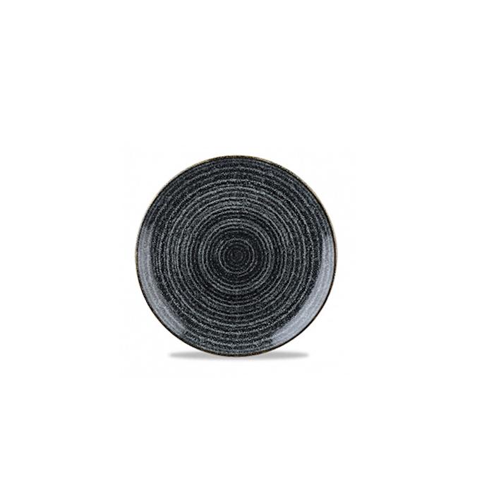 Piatto piano Studio Prints Homespun Churchill in ceramica vetrificata nero cm 26