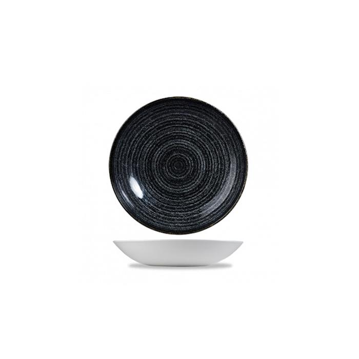 Piatto Fondo Coupe Studio Prints in ceramica vetrificata nero cm 24,8