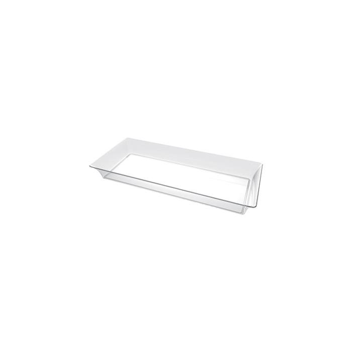 Piattini Karo monouso in plastica trasparente cm 13x5