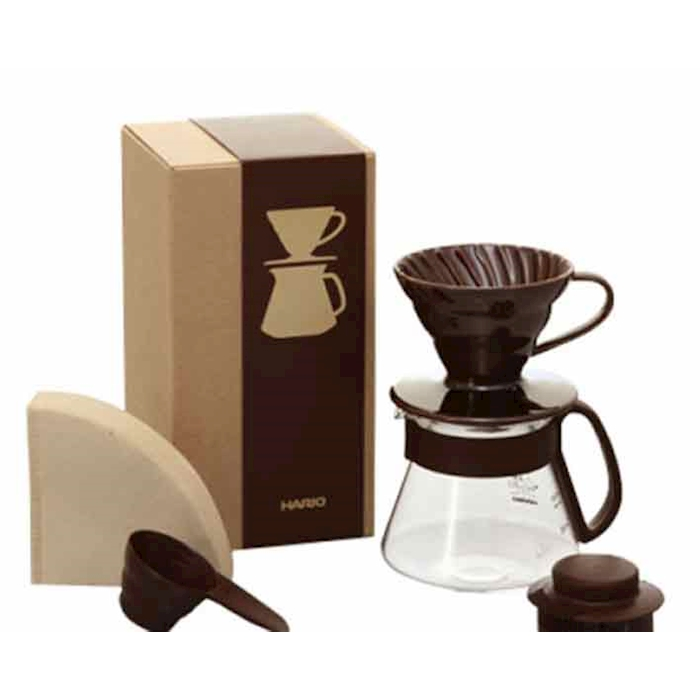 Set caffè americano Brown Hario marrone cl 40