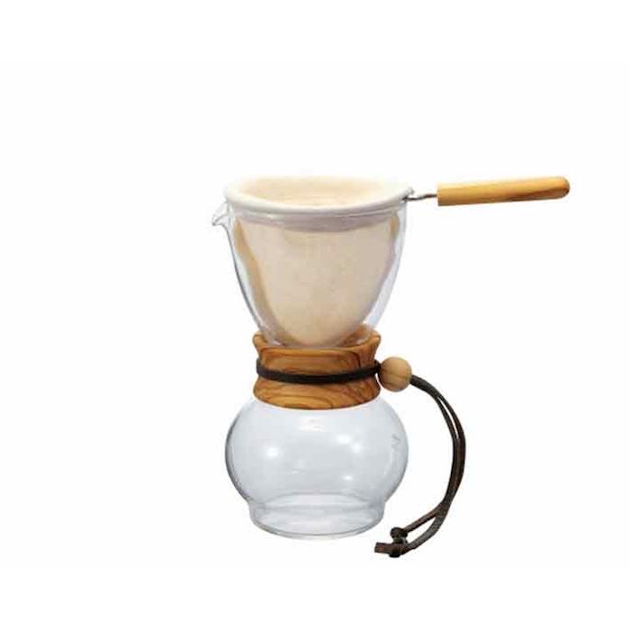 Caffettiera caffè americano Drip Pot Hario in vetro e legno cl 48