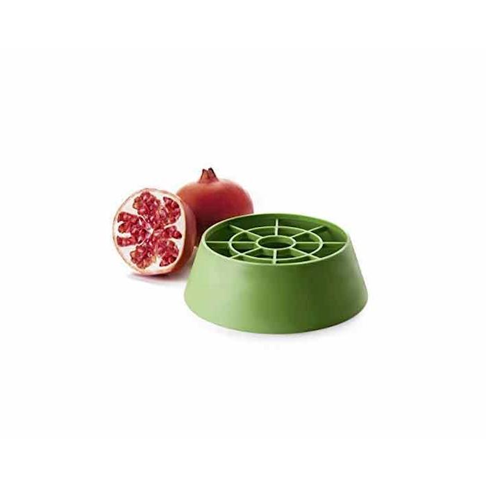 Sgranatore Melograno in plastica verde cm 18x6