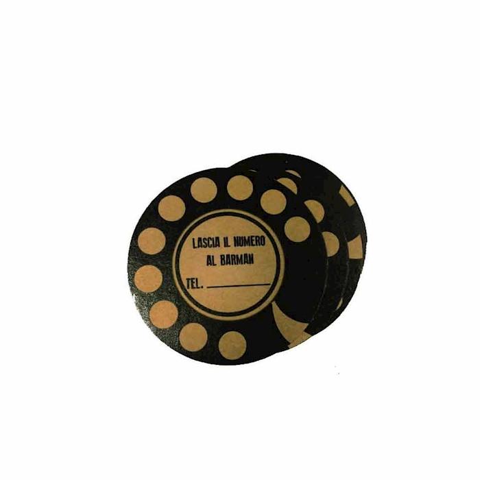 Sottobicchieri Number in cartoncino marrone cm 10