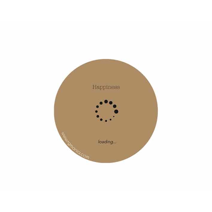 Sottobicchieri ''Happiness'' in Cartoncino Marrone Cm 10