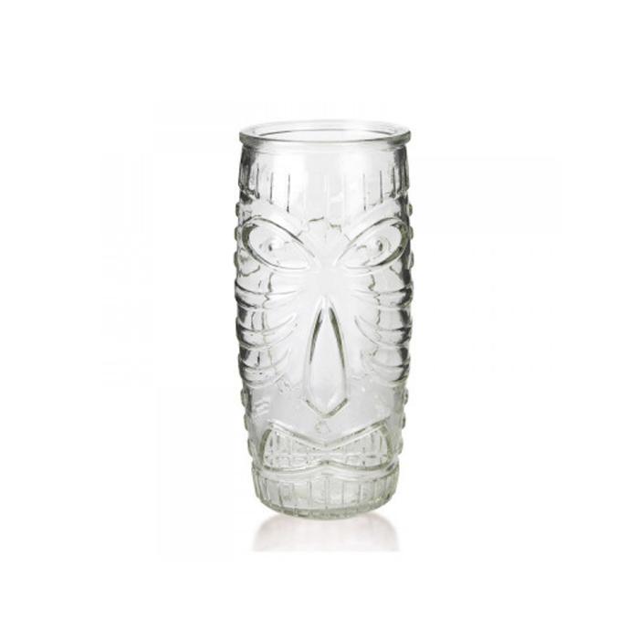 Bicchiere tiki mask in vetro cl 59