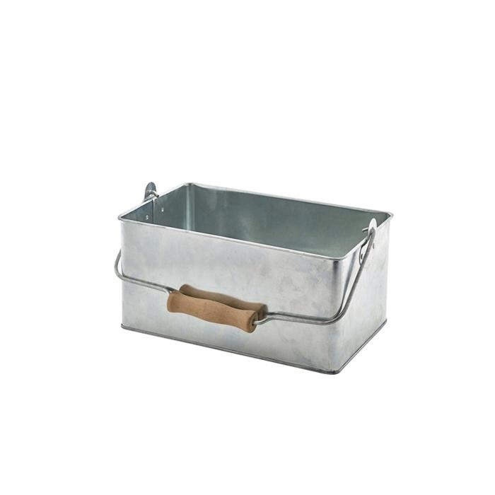 Porta pane con manico in alluminio cm 24,5x15,5