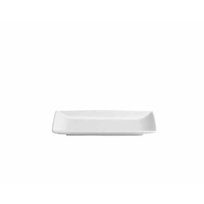 Piattino Ming rettangolare in porcellana bianca cm 15,5 x 5,9