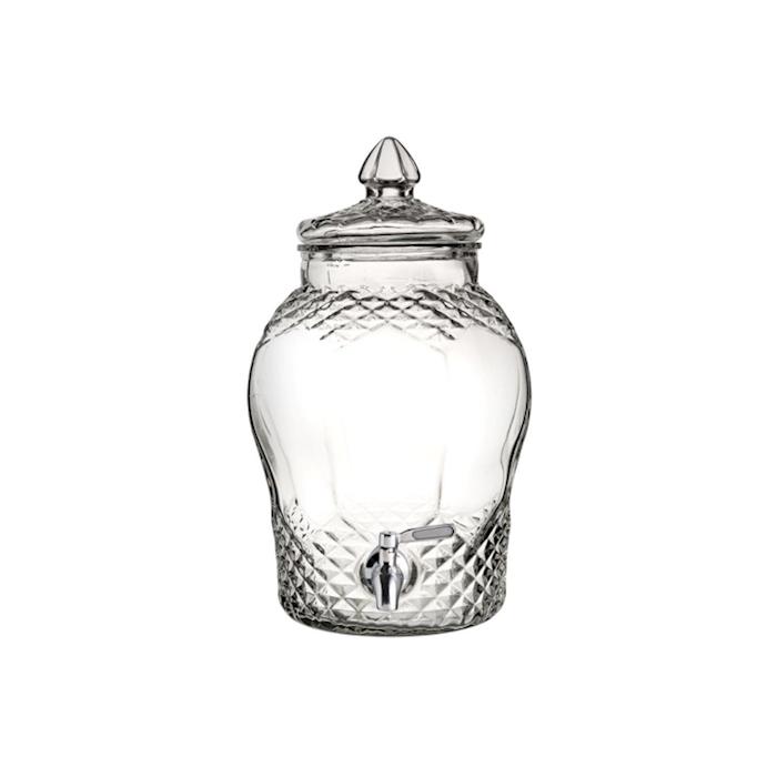 Vaso vintage con rubinetto in vetro lt 8