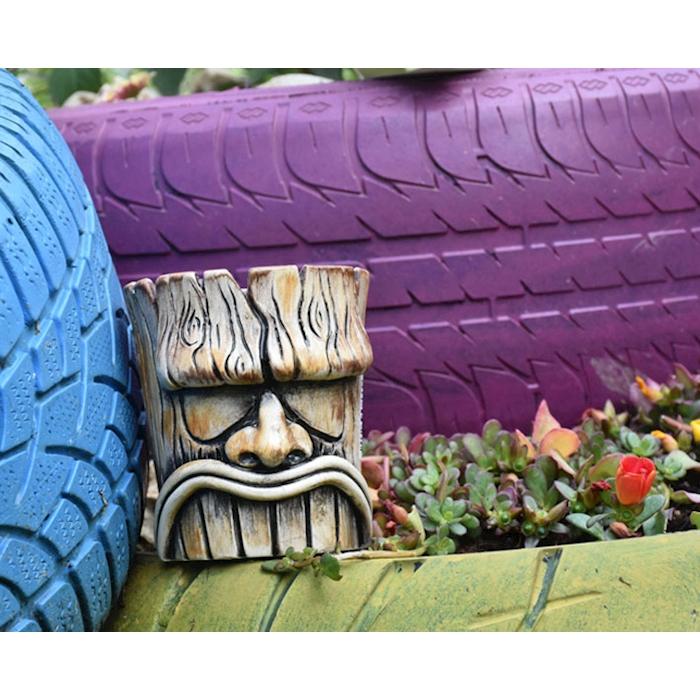 Tiki Mug Wood Totem in porcellana marrone cl 45