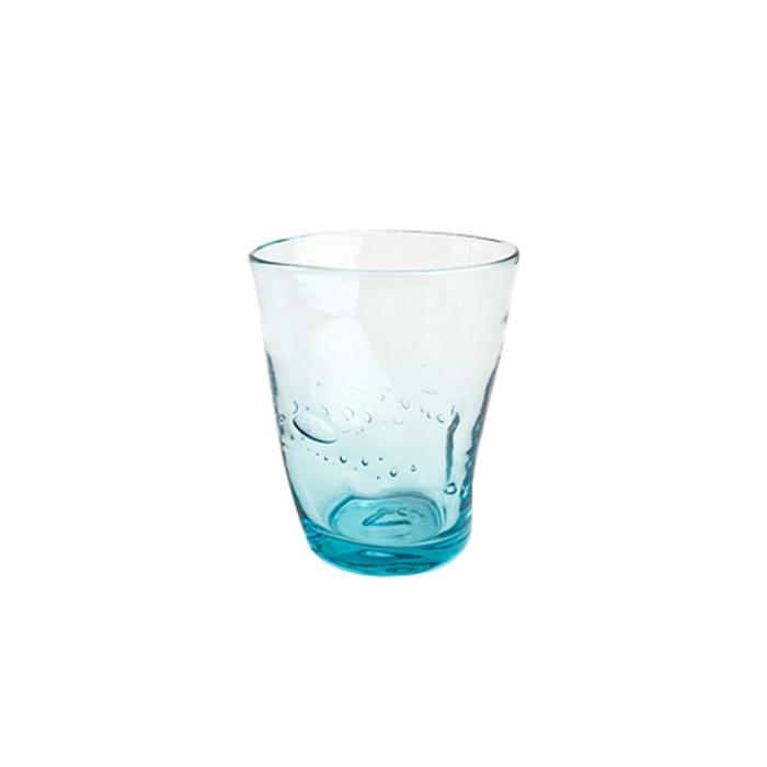 Bicchiere Samoa acqua in vetro azzurro chiaro cl 31