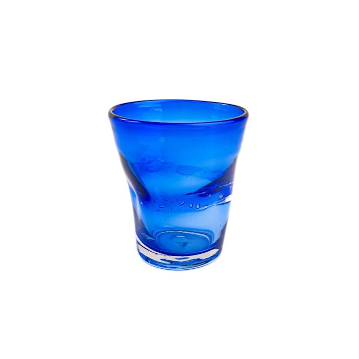 Bicchiere Samoa acqua in vetro blu scuro cl 31