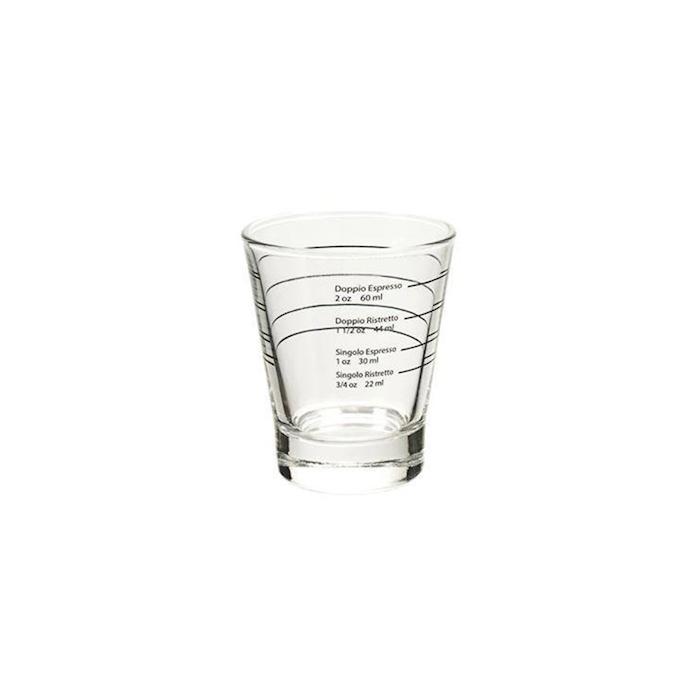 Bicchiere Caffeino graduato in ml e oz in vetro