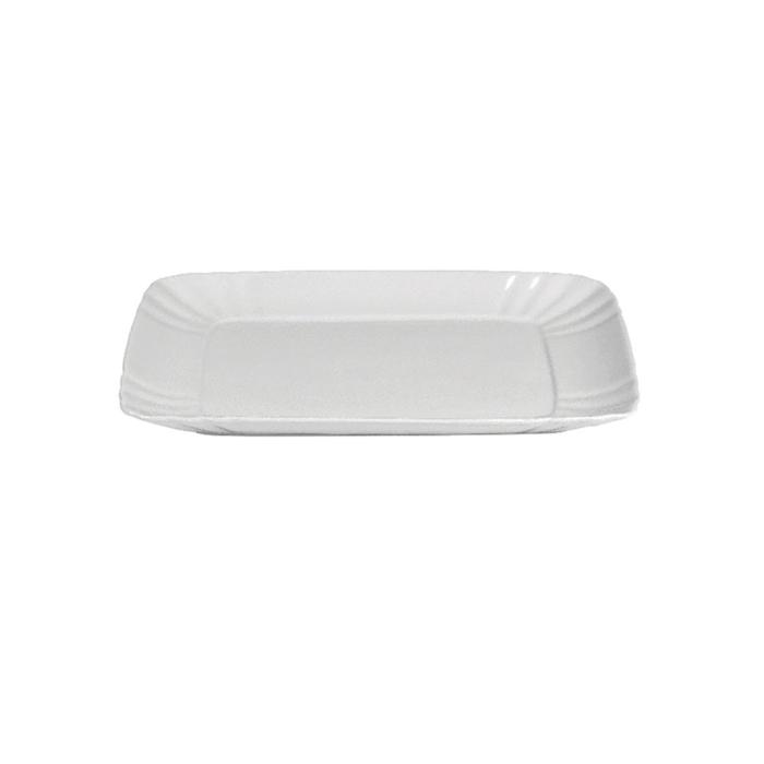 Vassoio rettangolare Vintage in porcellana bianca cm 29,5x20,5