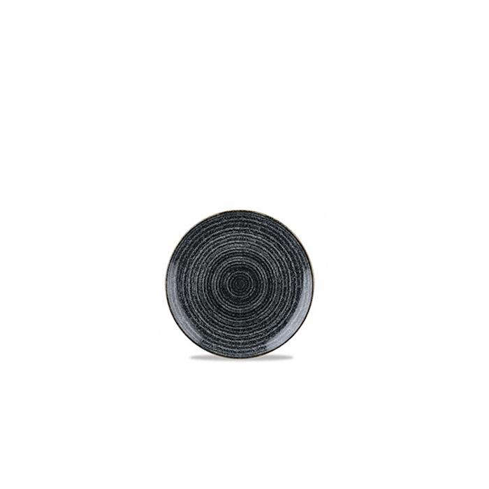 Piatto piano Studio Prints Homespun Churchill in ceramica vetrificata nero cm 16,5