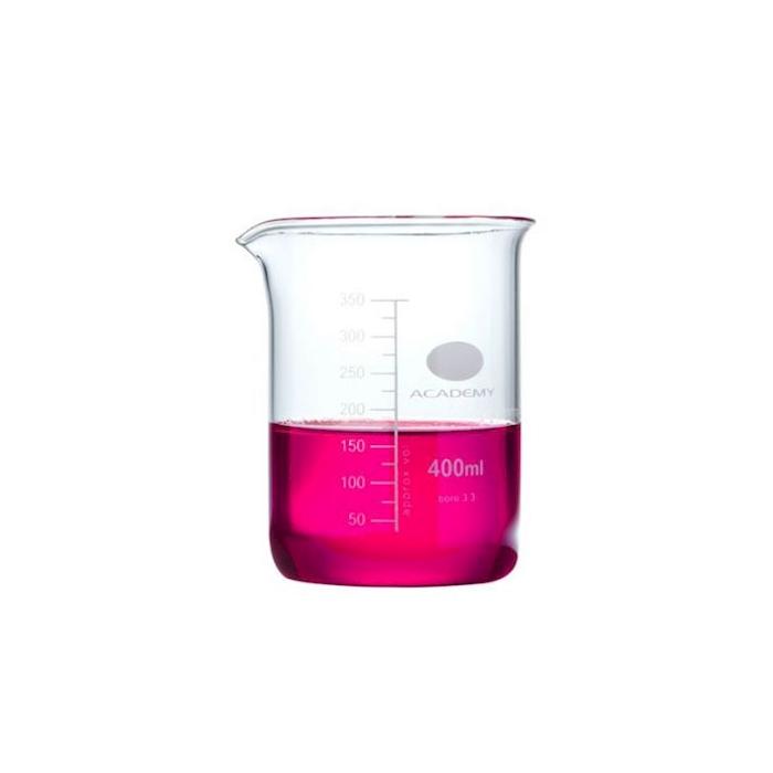 Contenitore beaker cilindrico in vetro graduato cl 40