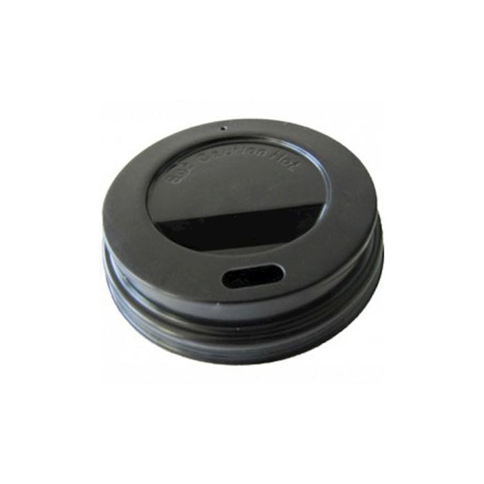 Coperchio monouso nero con foro cm 6,5