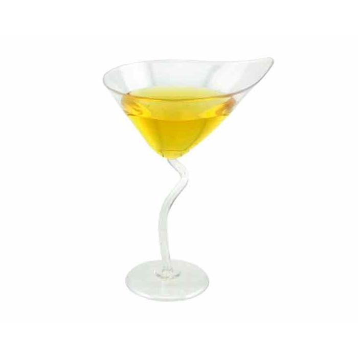 Coppe Martini in plastica trasparente cl 9