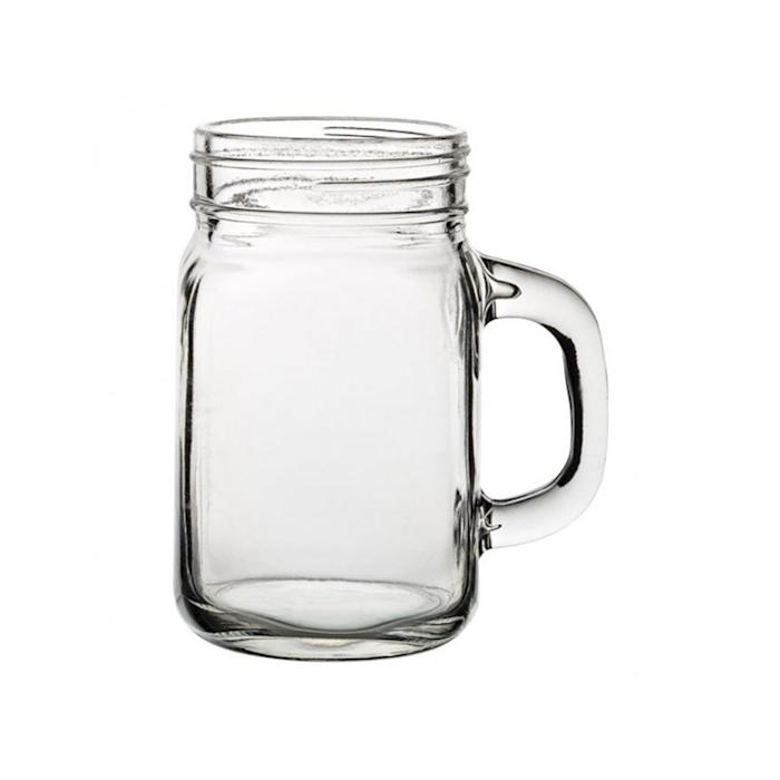 Bicchiere barattolo Tennesse in vetro cl 43
