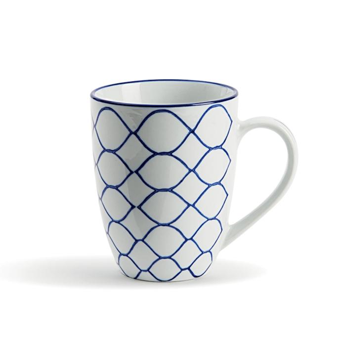 Tazza Indaco in porcellana con decoro cl 30