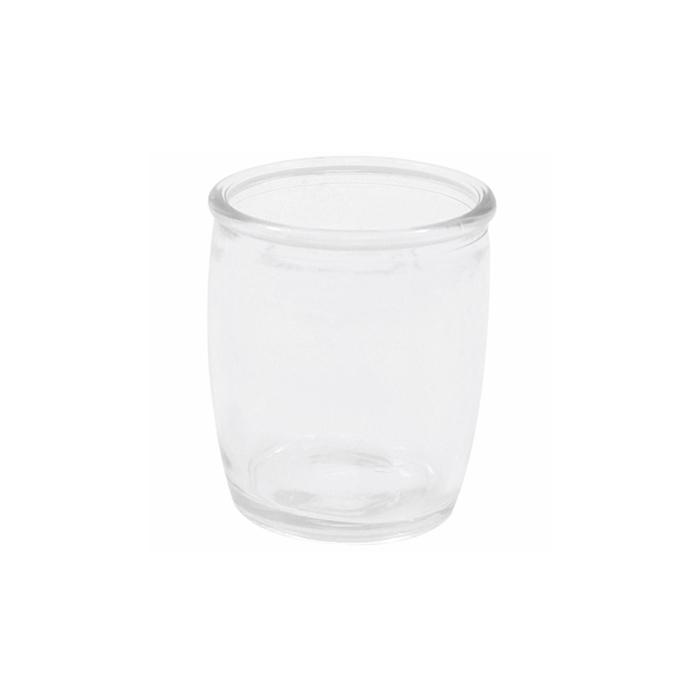 Bicchiere bombato liscio in vetro trasparente cl 11,8