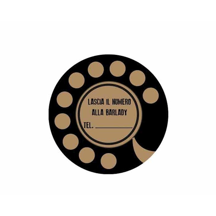 Sottobicchieri Number Barlady in cartoncino marrone cm 10