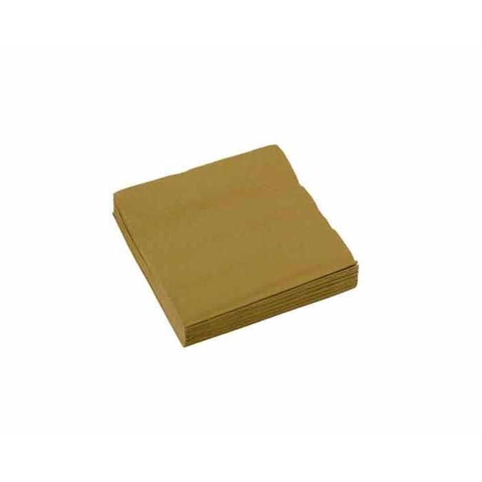 Tovagliolo 2 veli in cellulosa oro cm 25x25