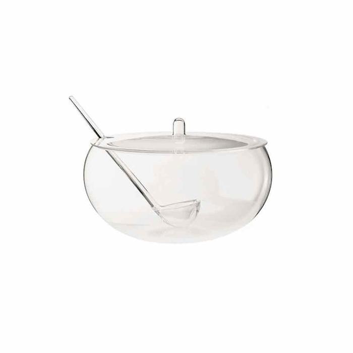 Bowl poncera trasparente con mestolo