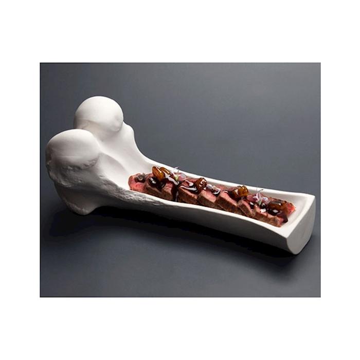 Piatto osso 100% Chef in porcellana bianca cm 25x10x10