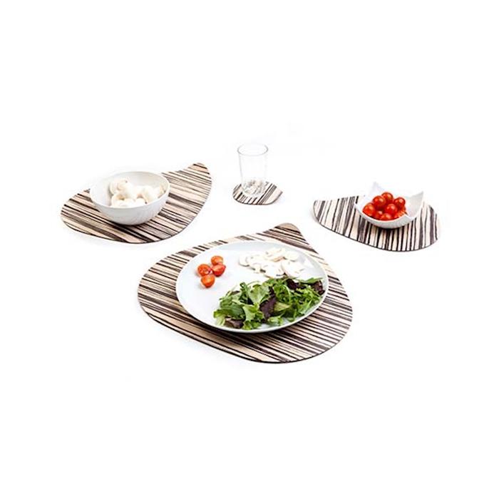 Piattino Ameba Zebra 100% Chef in melamina cm 12x11