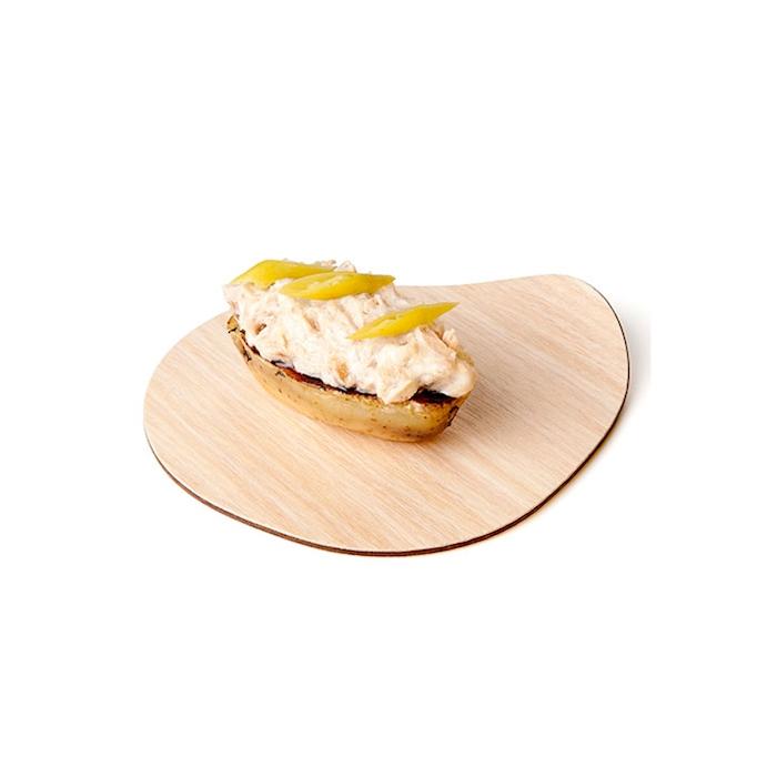 Piattino Ameba Oak 100% Chef in melamina cm 12x11