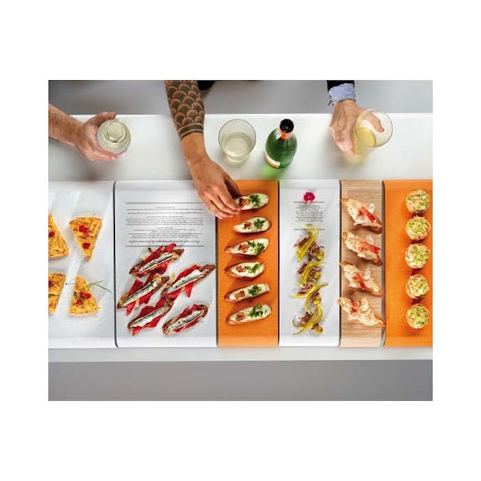 Vassoio Delica Bianco 100% Chef in melamina cm 35x15