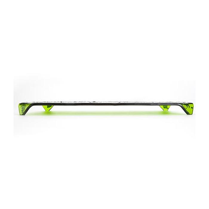 Piatto Nori 100% Chef in vetro verde glitterato cm 22x16