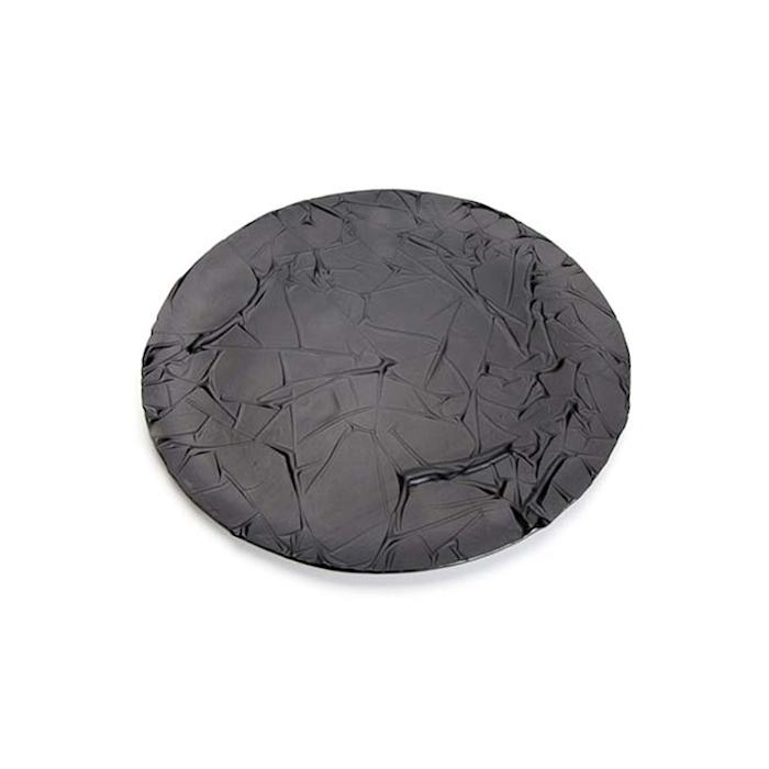 Piatto Stucco 100% Chef in vetro nero cm 27
