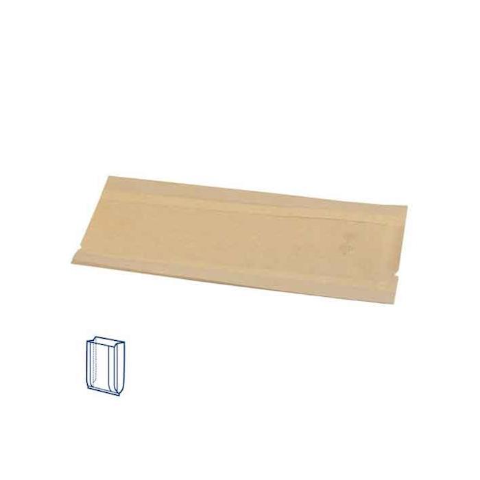 Sacchetti aperti con finestra Delicatessen in carta marrone cm 16x21