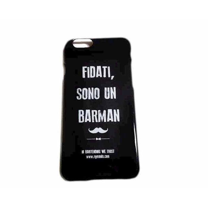 Cover I-Phone 6/7 Fidati sono un barman in plastica nera