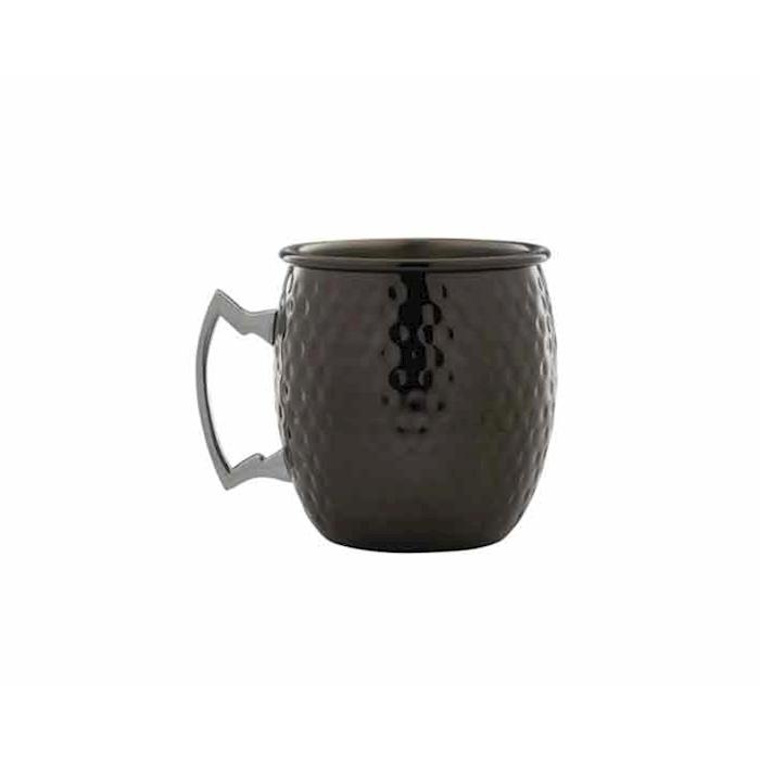 Boccale Black Barrel in acciaio inox martellato nero cl 55