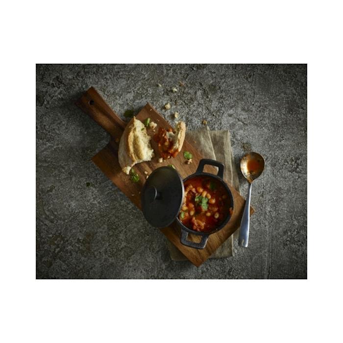 Tagliere rettangolare con manico in legno di acacia cm 28x14