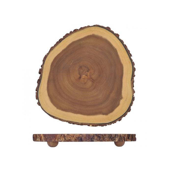Tagliere tondo con piedini in legno cm 30