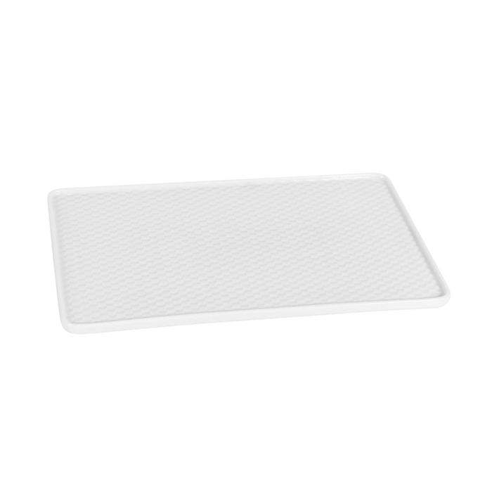Vassoio rettangolare Mihita in porcellana bianca cm 26x16