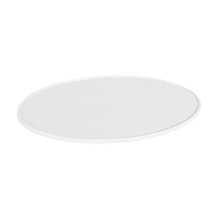 Vassoio ovale Mihita in porcellana bianca cm 31x19x1