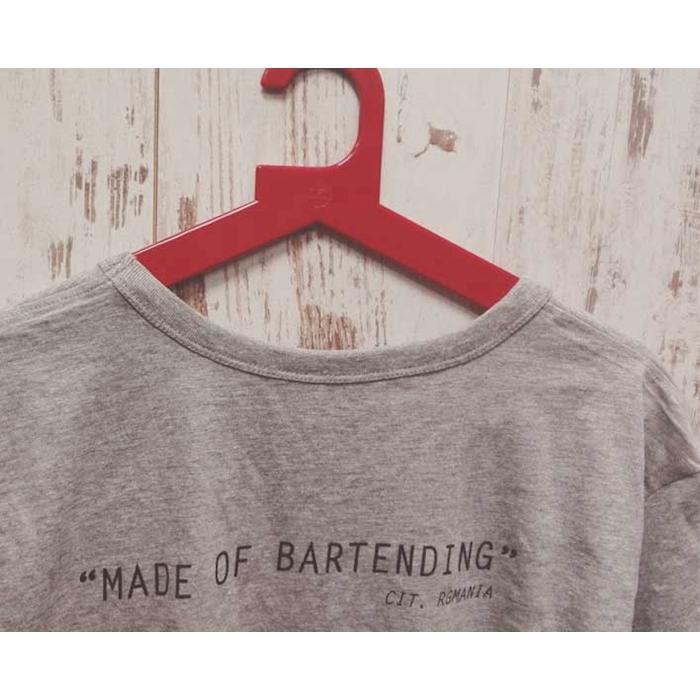 Maglietta Made of Bartending in cotone grigio XL