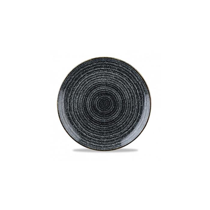 Piatto piano Studio Prints Homespun in ceramica vetrificata nero cm 28,8