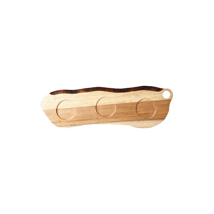 Tagliere naturale Wood Churchill con 3 impronte in legno naturale cm 45,5x14,5