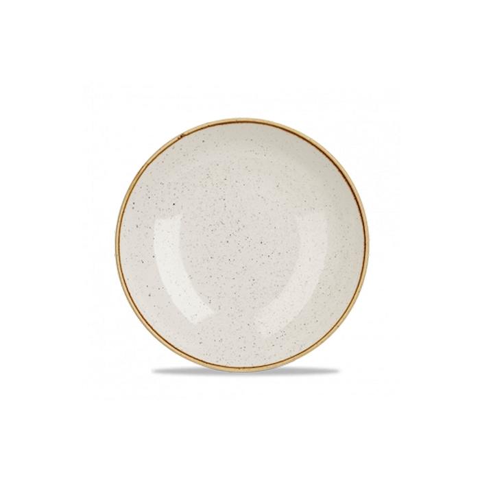 Piatto coupe Stonecast Churchill in ceramica vetrificata bianca cm 24,8