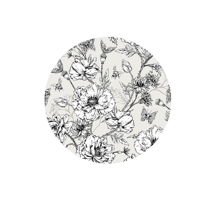 Sottobicchieri Flower in pelle rigenerata cm 10
