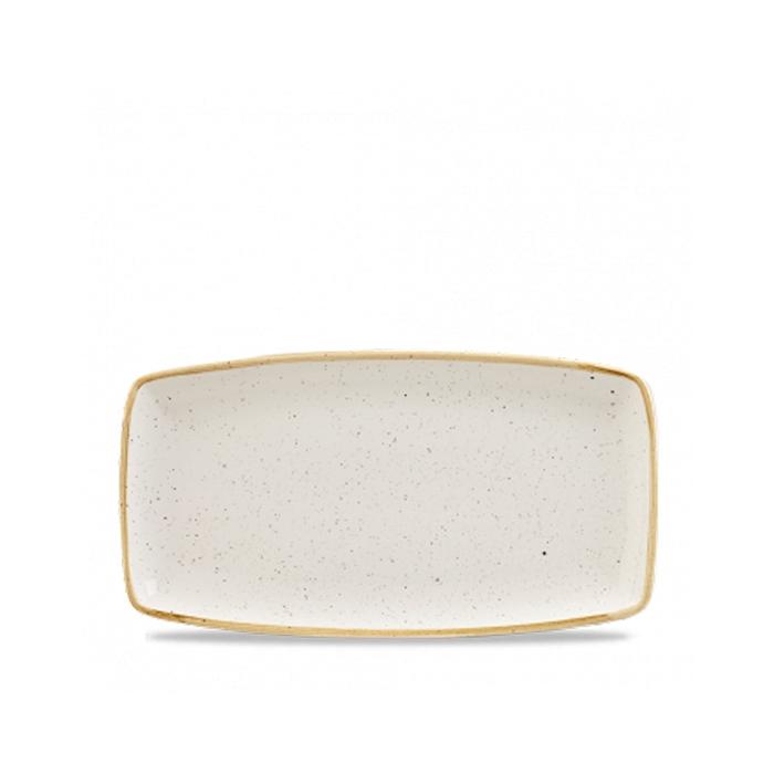 Vassoio Stonecast Churchill in ceramica vetrificata bianca cm 35x18,5